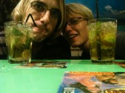 Mojitos at a Mexican restaurant in Barcelona.