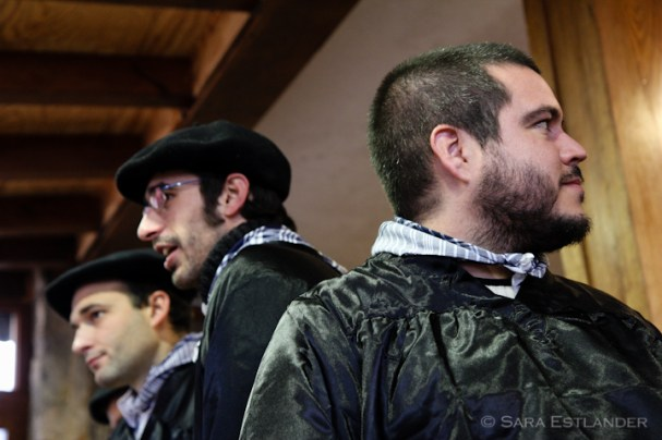 Dressed up traditional Basque style for the Santo Tomás festival.