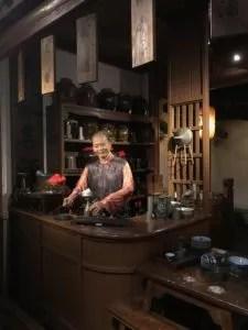 wax bartender in Shanghai History museum