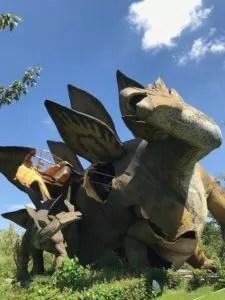 Wrecked stegasaurus Gucun Park, Shanghai
