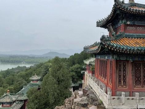 View of hills and Kunming Lake Summer Palace Beijing - onaroadtonowhere.com