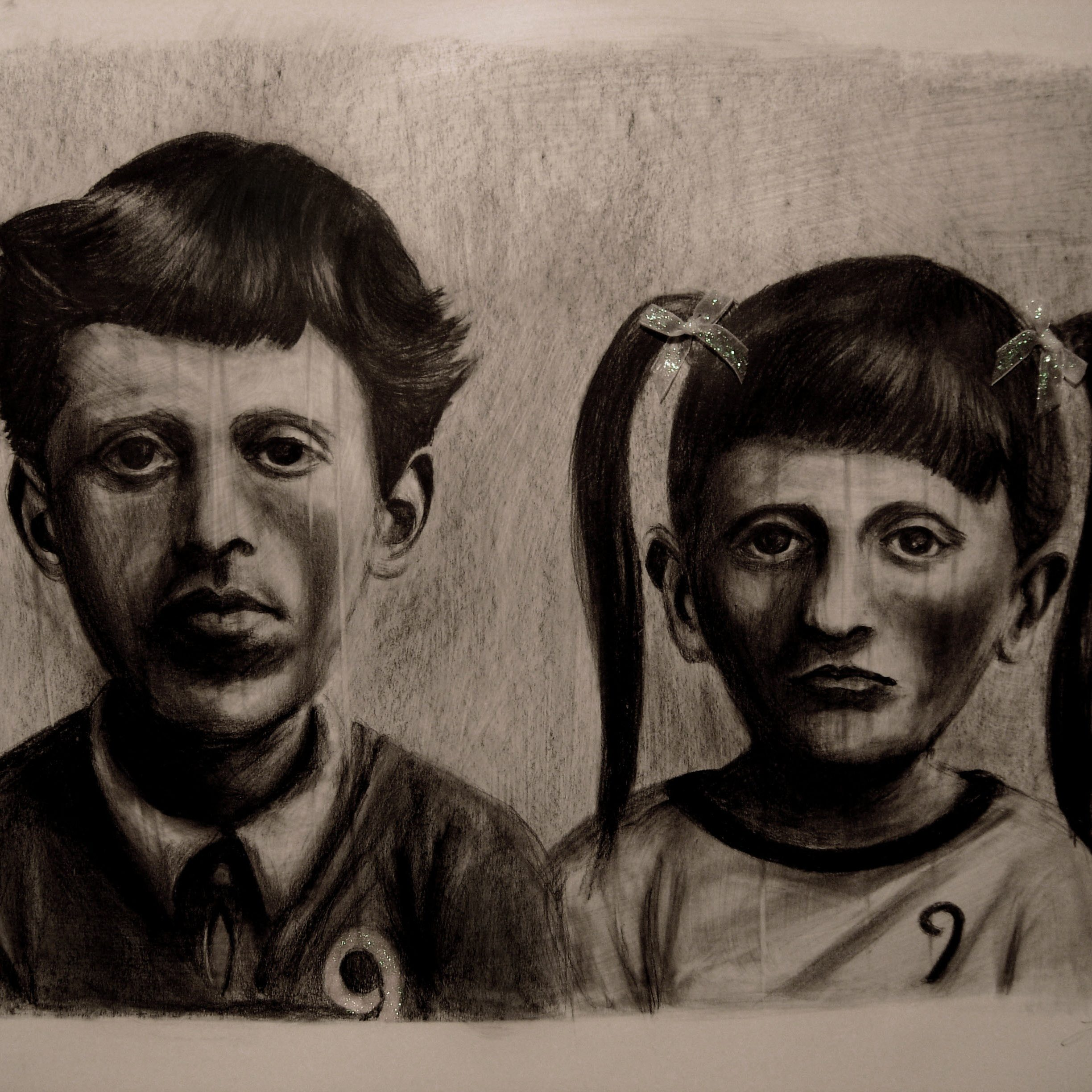 Giuditta R. Explores Different Sides of Human Identity in Graphite-On-Cardboard Drawings