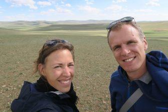 Selfie dans la steppe