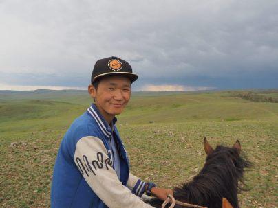 Notre second guide lors de la ballade à cheval