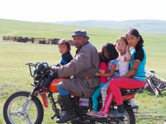 La famille en moto
