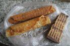 Patisseries achetées sur le quai