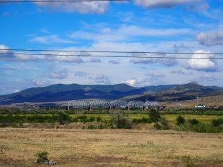 Vue d'un pont sur la voie ferrée