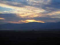 Coucher de soleil, quelque part entre la Russie et la Mongolie