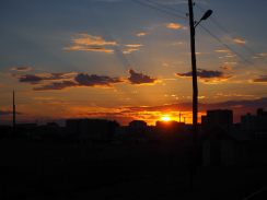 Coucher de soleil à la frontière