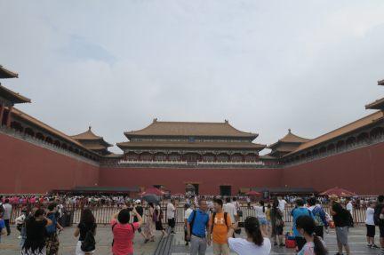 Photo d'un batiment ancien, cité interdite, Pékin