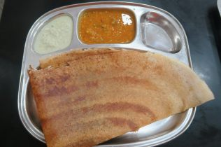 Un Dosa dans un Fast Food végétarien de kandy