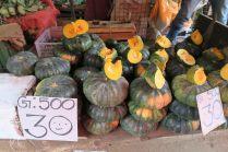 Potiron sur le marché de Kandy