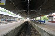 Gare de Kandy à 7h du matin (on est les premiers ! )