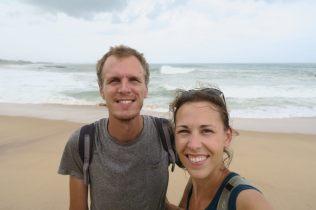 Selfie lors de notre arrivée à Tangalle