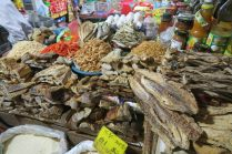 Etalage de poissons séchés