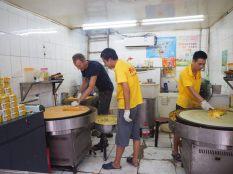 Photo de production de crêpe