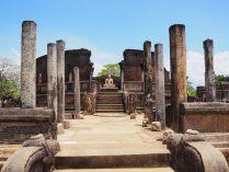 Vue sur le Vatadage, un des plus beaux vestiges de Polonnaruwa