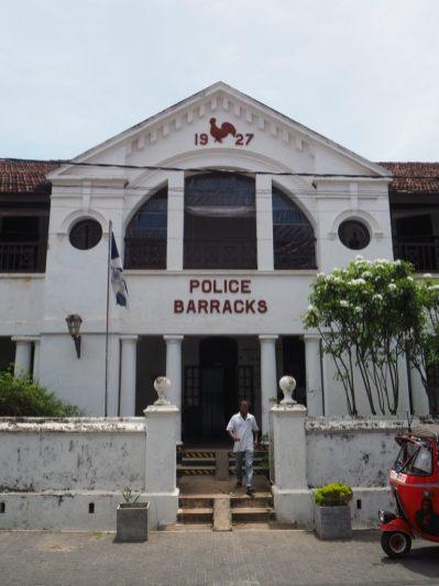 Les barraques de la police, dans le fort de Galle