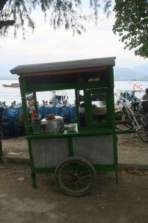 Stand de boulettes cuites à l'eau