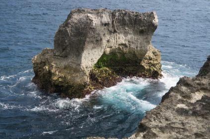 Rocher à Blue lagoon