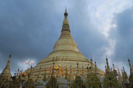 La pagode à la tombée du jour