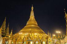 La pagode à la nuit tombée