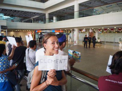 A l'aéroport de Denpasar