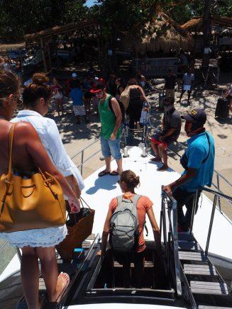 La descente du fastboat