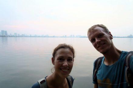 Selfie au bord du lac !
