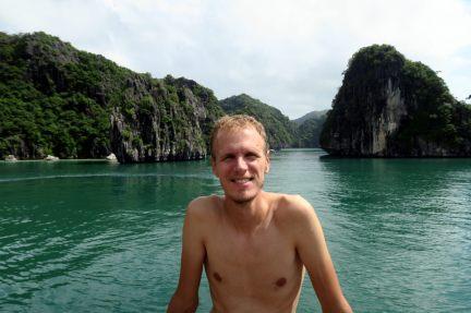 Julien après la baignade