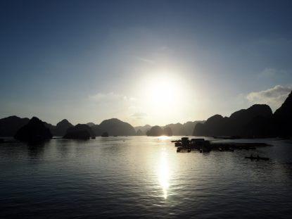 La baie au coucher du soleil