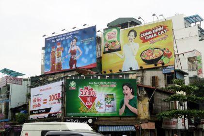 Publicités dans la ville