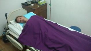 Elise à l'arrivée à l'hôpital