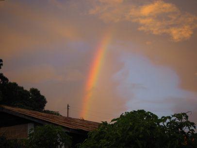 Arc en ciel en fin de journée