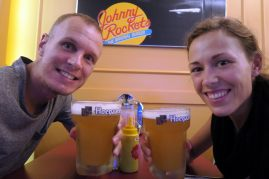 Encore un gros craquage : une bonne pinte de bière belge pour fêter la convalescence d'Elise !