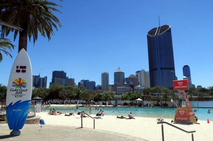 Southbank et sa plage publique !