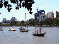 Vue sur le Brisbane, le fleuve qui donne son nom à la ville