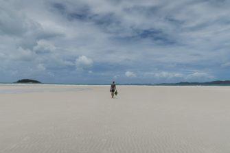 Julien sur la plage de Whitehaven