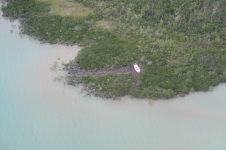 Un bateau poussé sur la terre par le dernier cyclone (mars 2017) qui a ravagé l'archipel