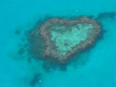 """Le """"heart reef"""", connu pour sa forme de coeur"""