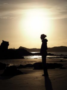 Elise sur la plage