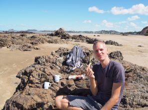 Café-biscuits sur la plage... what else ?