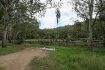 Un des nombreux enclos à vaches que l'on croise au bord de la route