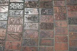 Les pavés du parc Fitzroy Garden