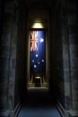 Drapeau de l'australie dans le shrine of rememberance