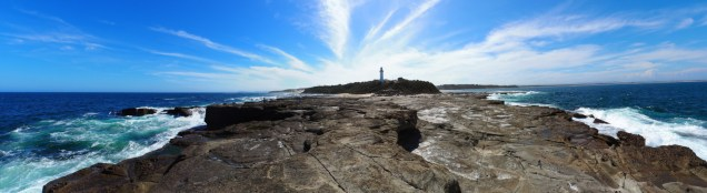 Le phare de Norah Head - panorama