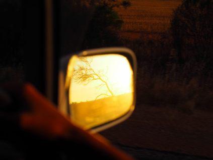 Reflet au coucher du soleil