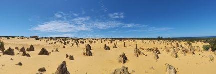 Panorama du désert des pinnacles