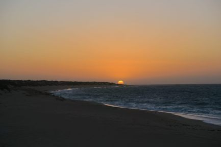 Coucher de soleil sur la plage de Mauritius, Cape Range National Park