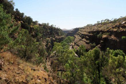 Vue de haut des Dales Gorge